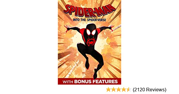 Amazon com: Spider-Man: Into The Spider-Verse (With Bonus