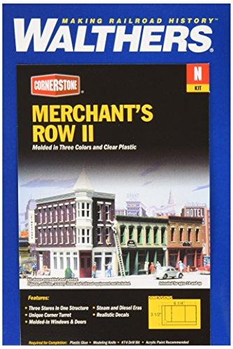 """Used, Walthers, Inc. Merchant's Row II Kit, 6-1/4 x 3-1/2"""" for sale  Delivered anywhere in USA"""