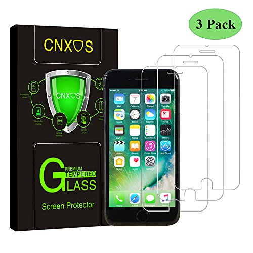 3 Pack-iPhone 7 Plus Glass Screen Protector, CNXUS Tempered Glass Screen Protector for Apple iPhone 7 Plus, Anti Fingerprint, 3D Touch Compatible, Oil Stain Scratch Coating, Ultra Clear Film