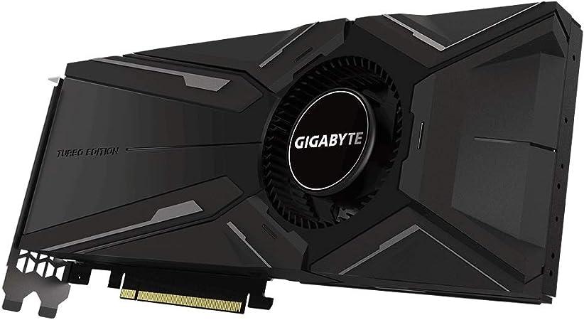 Gigabyte GeForce GV-N208TTURBO OC-11GC - Tarjeta gráfica (RTX 2080 Ti, 11 GB, GDDR6, 352 bit, 7680 x 4320 Pixeles, PCI Express x16 3.0)
