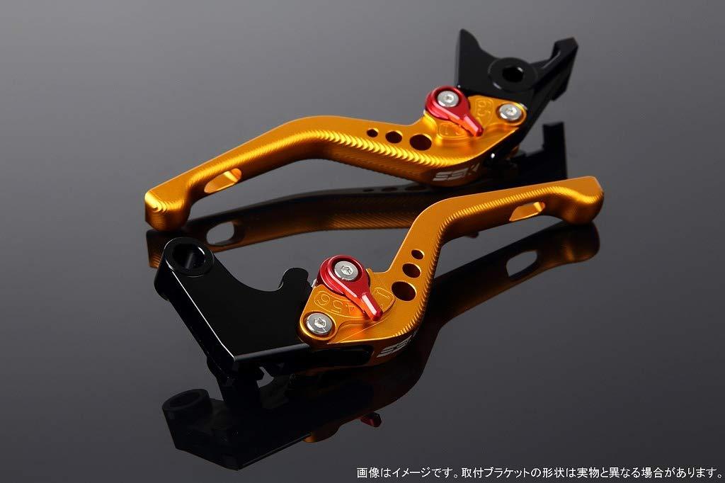 SSK アジャストレバー 3Dショート レバー本体カラー:マットゴールド アジャスターカラー:マットレッド LVFM035GD-RD B07MXCC25L
