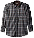 Pendleton Men's Long Sleeve Button Front Classic Lodge Shirt, Oxford Grey/Blue Plaid-31952, MD