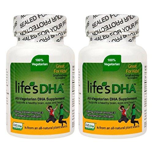 100 Mg Dha (Martek Life's DHA Omega-3 DHA 100mg 90 All-vegetarian Softgels Kids (pack of 2))