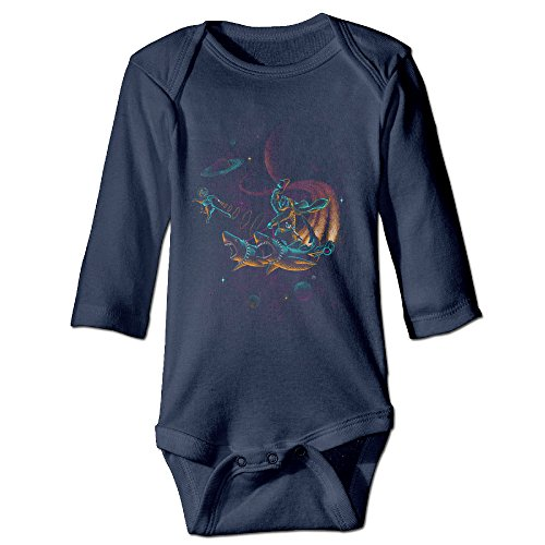 Funny Vintage Unisex Outer Space Cotton Romper Infant Baby's (Outer Space Hamper compare prices)