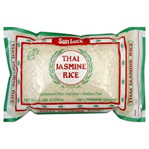 Amazon.com : Sun Luck Thai Jasmine Rice#44; 5 lb#44