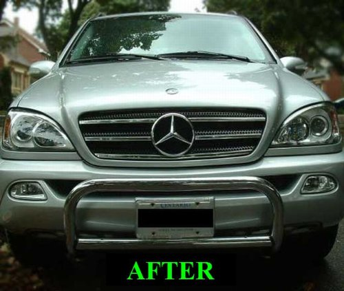 Mercedes w163 ml 1998 2005 chrome grille grill kit 1999 for 2005 mercedes benz ml320