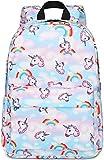 Preschool Backpack Girls Kids Backpacks Toddler Kindergarten School Bookbags for Elementary Water Resistant (White)