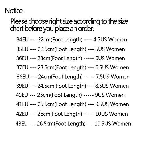 40 Color Sandalias Talla Mujer Lueyifs Negro EU para xwp7Ytnz