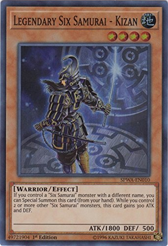 Legendary Six Samurai - Kizan - SPWA-EN010 - Super Rare - 1st Edition - Spirit Warriors (1st Edition)