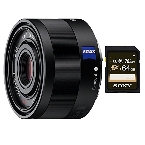 Sony 35mm F2.8 Sonnar T FE ZA Full Frame Prime Fixed Lens (SD Card Bundle) by Sony