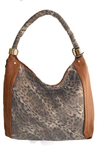 cheetah shopper print Camel hobo shoulder women animal leopard purse 4qwUng5
