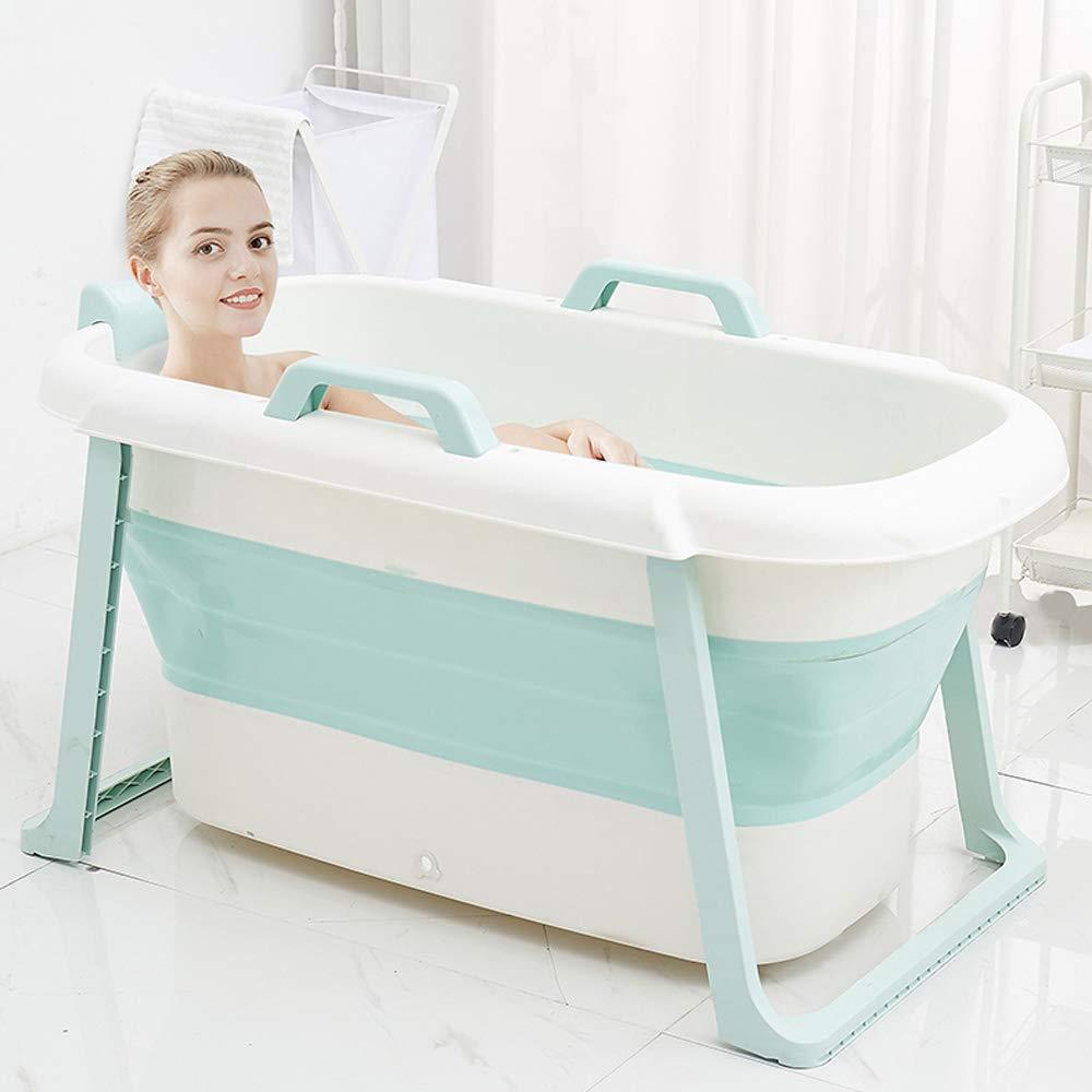 Thickened Tough Plastic Full Body Household Bath Barrel Children Bath Basin NBCDY Home Folding Adult Bathtub Portable Non-Slip Tub Bath Barrel With Lid