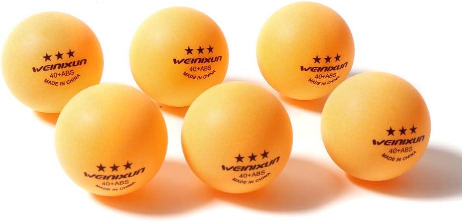 GCDN Pelotas de Tenis de Mesa 100Pcs 40mm Accesorios de Interior Practica Al Aire Libre Amateur Entrenamiento de Alta Elasticidad 3 Estrellas ABS Ping Pong Gym Sports Home(Amarillo)
