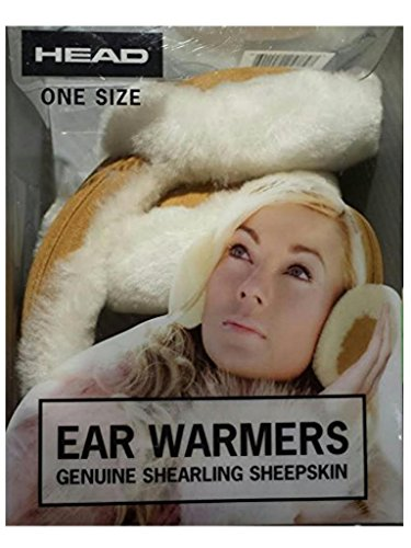 HEAD Woman's Ear Warmers Earmuffs with Genuine Shearling Sheepskin