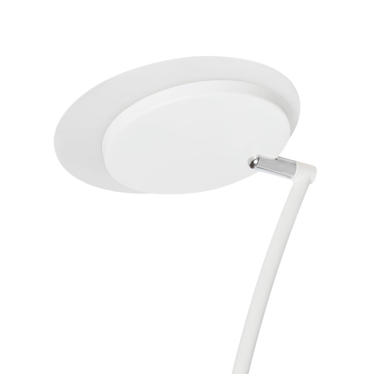 28/x 23.5/x 183/cm 24/W bianco opaco e cromo satinato SULION dordo/ña Pie di salotto LED rotante
