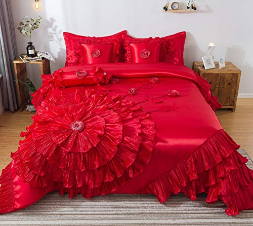 Tache Home Fashion VEHY4174-K Ruffle Comforter Bedding