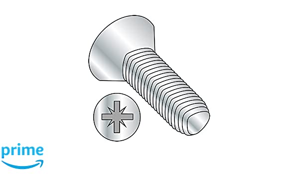 Pack of 100 Steel Thread Rolling Screw for Metal M5-0.8 Thread Size Pozi Drive Metric 20 mm Length Zinc Plated 90 Degree Flat Head Small Parts M520D7500M