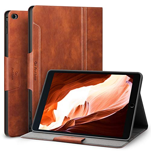 Antbox iPad Mini 4 Case, PU Leather Case Smart Cover with Auto Sleep/Wake Stand Function for iPad Mini 4 (iPad Mini 4, Brown) (Ipad Mini Case With Smart Cover Function)