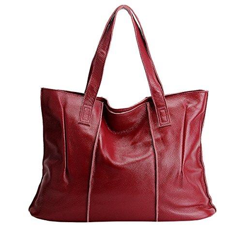 Sac LF portés main femme en à 69316 fashion cuir portés Sac E Bordeaux épaule Girl main Sac 4twxZ5q