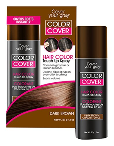 Cover Your Gray Color Touch-Up Spray, Dark Brown, 2 Ounce