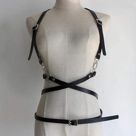 DHDDJS Faux Leather Body Bondage Cage Arnés para Esculpir Cintura ...
