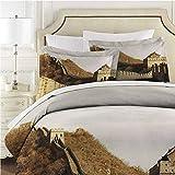 Great Wall of China Bed Sheet Set, Ancient Stone