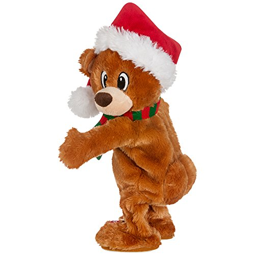 Gemmy Twerking Christmas Bear Bluetooth Plush – Compatible with Alexa Now $9.99