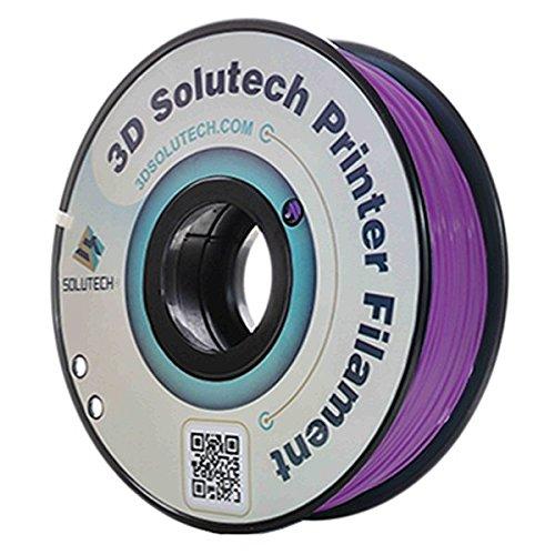 3D Solutech Real Purple 3D Printer PLA Filament 1.75MM Filament, Dimensional Accuracy +/- 0.03 mm, 2.2 LBS (1.0KG)