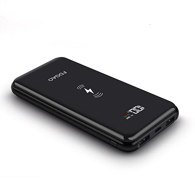 9fad7033b91463 FDGAO Wireless Power Bank, 20000mAh Portable Charger Battery Pack with LED  Display External Battery Charger