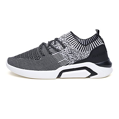 YMY Casual Running Grey1 11size Sneakers Women's Sneakers mesh Lightweight Black Breathable Men's Shoes rq8Ir