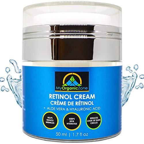 Retinol Cream, Best Face Moisturizer & Skin Hydrator, Anti Aging, Anti Wrinkle Moisturizing Face Lotion, Helps With Dry or Sensitive Skin, Tinted Eye Cream (1.7 fl.oz/50 ml)
