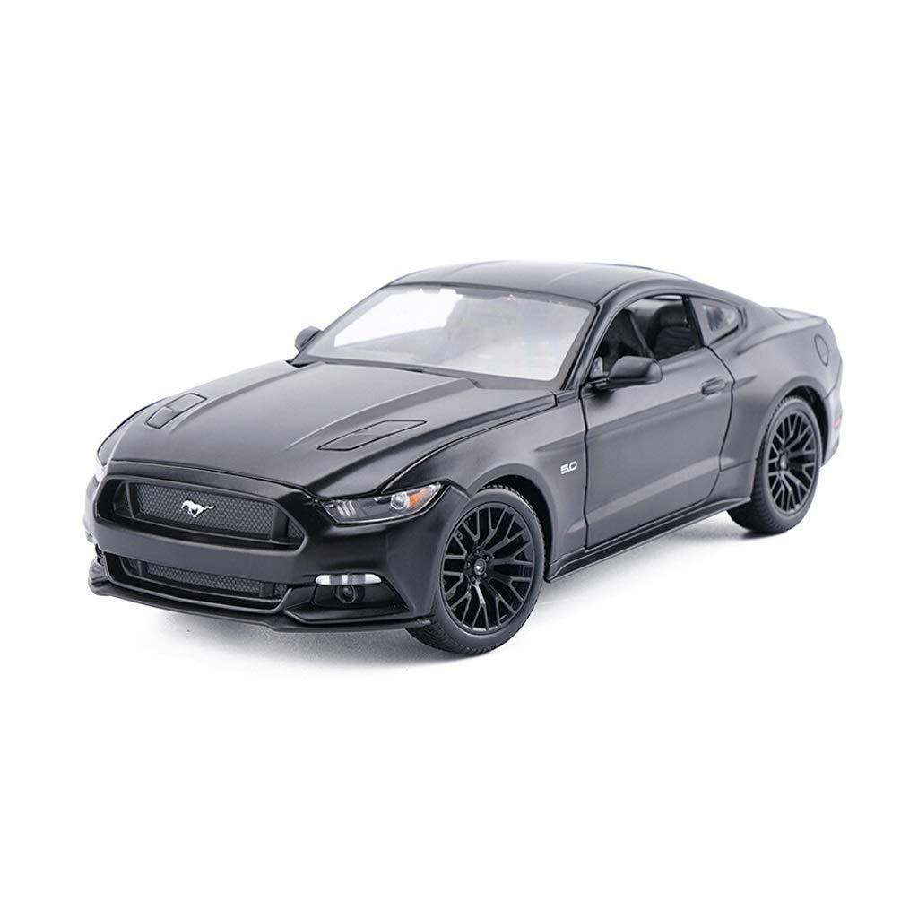 Lingling Ford Mustang GT Legierung Automodell Sport Auto Real Auto Anteil Möbel Dekoration Junge Geschenk 2015 1 18 (Farbe   SCHWARZ) B07NW2MGFW Fahrzeuge mit Funktion Niedriger Preis | Große Klassifizierung