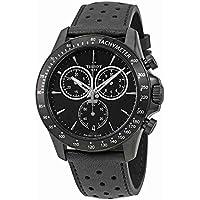 Tissot Men's Quartz Stainless Steel Casual Watch, Color:Black (Model: T1064173605100)