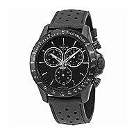 Tissot V8 T106.417.36.051.00 Black/Black Leather Analog Quartz Men's Watch