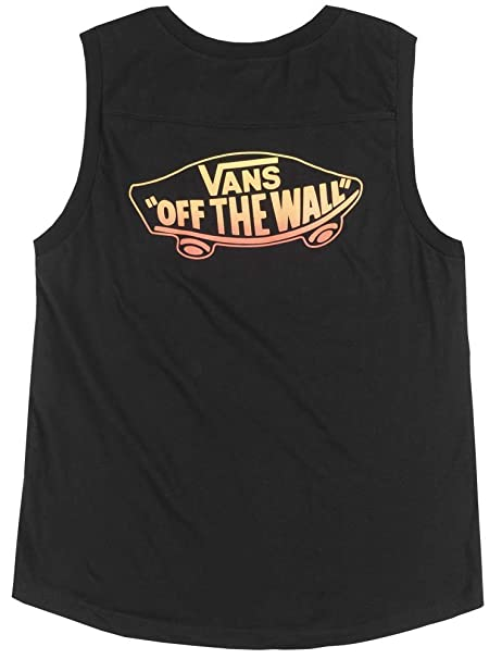 c6a8057e4d Image Unavailable. Image not available for. Color  Vans Off The Wall OTW Muscle  Tank TOP Womens ...