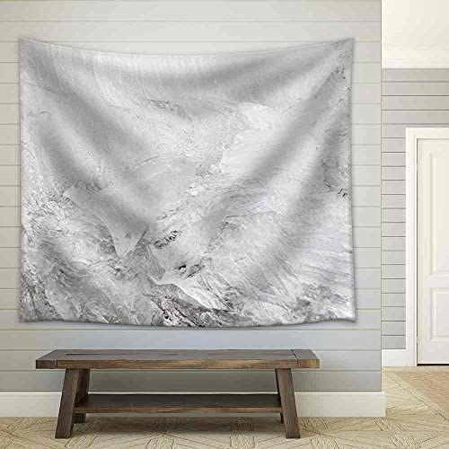 Background Texture Pattern of Disintegrating Candelized Melting Ice Fabric Wall