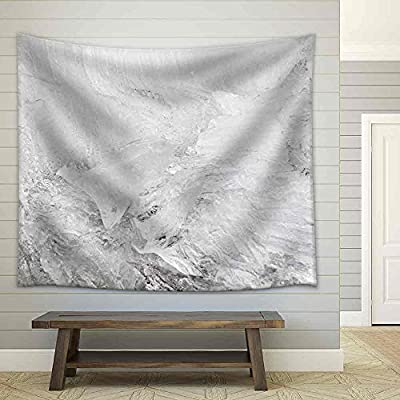 Quality Artwork, Unbelievable Handicraft, Background Texture Pattern of Disintegrating Candelized Melting Ice Fabric Wall
