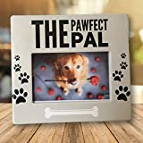 Banberry Designs Dog Picture Frame - The Pawfect Pal Photo Plaque - 4 x 6 Inch Photograph Opening - Dog Frames