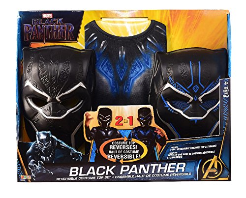 Imagine by Rubie's Boys Black Panther Child's 2-in-1 Reversible Costume Top Set, As Shown, Small