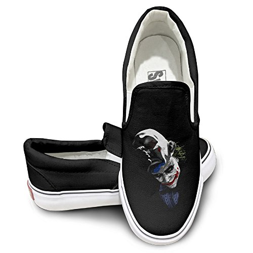 [EWIED Unisex Classic Cool Joker Slip-On Shoes Black Size41] (Devil May Cry 3 Costumes)