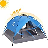 CAMEL CROWN 2-3 Person Rainproof Instant Camping Tent Automatic Waterproof Pop up Tents for Summer Outdoor Backpacking