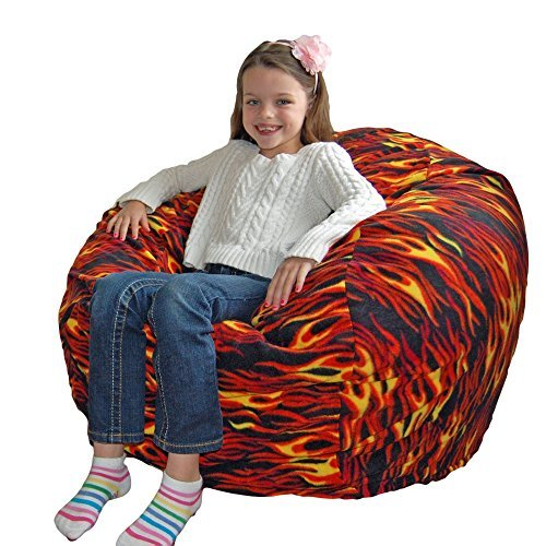 Ahh  Products Hot Rod Anti-Pill Fleece Washable Large Bean Bag Chair by Ahh  Products