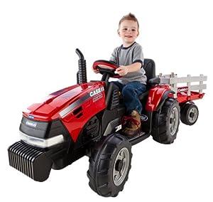 Amazon Com Peg Perego Case Ih Magnum Tractor Trailer