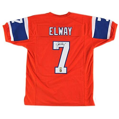 uk availability c6ca7 b9060 Autographed John Elway Jersey - 75th Anniversary Throwback ...