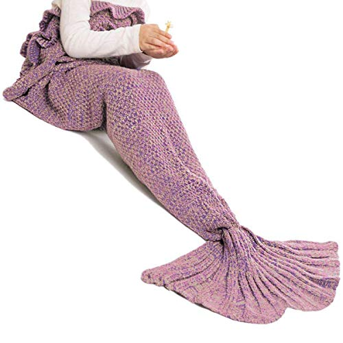 Image of the JR.WHITE JR22000060W3PUS Mermaid Tail Blanket for Kids, 55.1