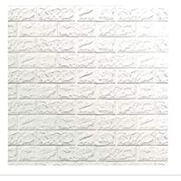 70x77cm PE Foam 3D Wall Stickers Safty Home Decor Wallpaper Sticker,White