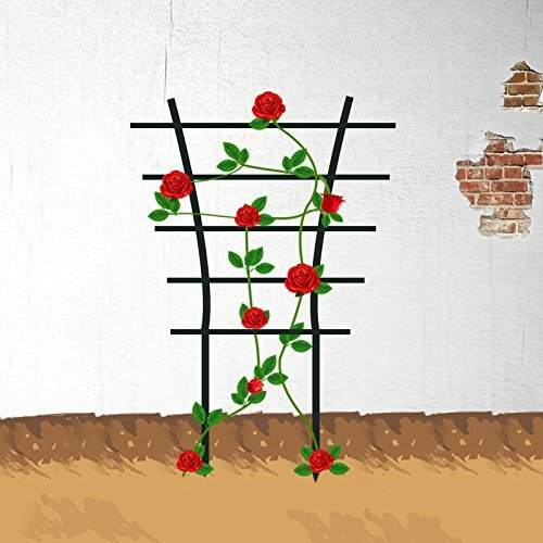 EcoTrellis Garden Mini Plant Plastic Trellis for Plant Climbing and Plant Pot Support, 5.9'' W x 9.8'' H, 2 Pack by EcoTrellis