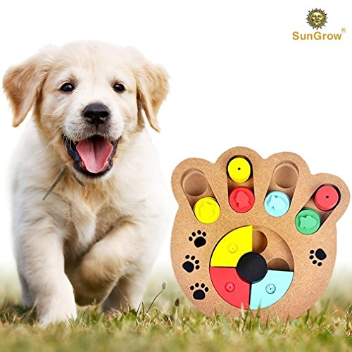 SunGrow Unique Shuffle Puzzle Smart Toy for Puppies by Impro