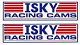Isky Cams Racing Decals Stickers 7-3/4 Inches Long Size Set of 2