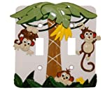 MONKEY kids Double SWITCHPLATE COVER switch plate